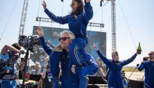 Virgin Galactic Branson launch - Sakshi