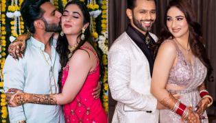 Rahul Vaidya Disha Parmar wedding Pic Viral - Sakshi