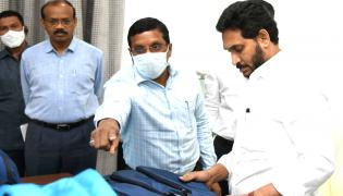 CM YS Jagan inspected Quality School Bags and Shoes Photos - Sakshi
