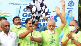 NMDC Cancer Run 2021 Photo Gallery  - Sakshi