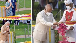 Photos: Leaders Pay Tribute To Mahatma Gandhi In His 152 Birth Anniversary - Sakshi