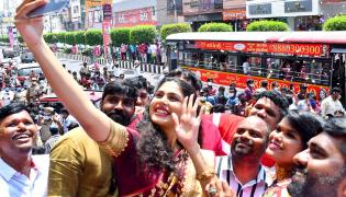 Actress Shriya Saran and Faria Abdullah At Mugdha Store Grand Opening  - Sakshi