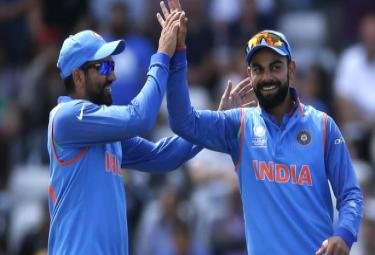 Virat Kohli leads and Rohit gets fifth place in ICC ODI rankings - Sakshi