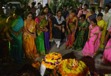 Bathukamma Festival Celebrations In Warangal Collector - Sakshi