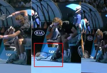Alexander Zverev on Smashing Racquetat Australian Open - Sakshi