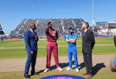 Unchanged India Elected to Bat First Against West Indies - Sakshi