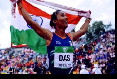 Netizens Hails Hima Das For Winning Four Golds in 15 days - Sakshi