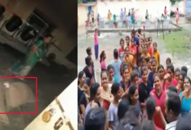 Girls Hostel Students Protest On Rice Illegal Transport At Hanamkonda - Sakshi