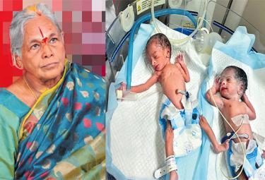 Twin Baby Mother Mangayamma Special Story - Sakshi