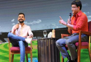 Ganguly Has Not Spoken To Me About Dhoni Kohli - Sakshi