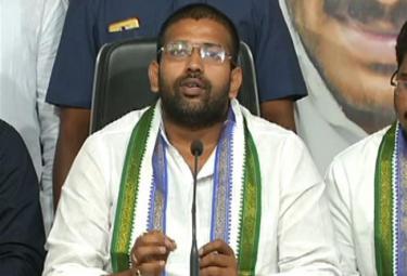 YSRCP MLA Jakkampudi Raja Talks In tadepalli Party Office - Sakshi