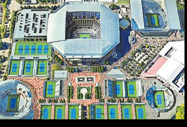 US Open Arena Will Become Corona Hospital - Sakshi