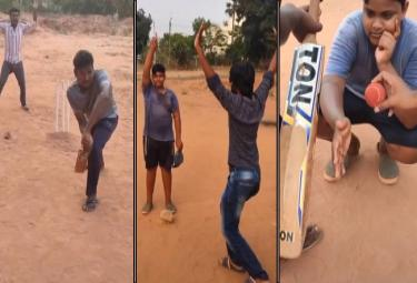 Ashwin Posted A Video Of A Group of Boys Enacting DRS - Sakshi