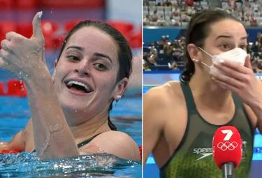Tokyo Olympics: Swimmer Kaylee McKeown Dropped F-Bomb On Live After Olympic Gold - Sakshi