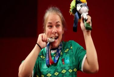 Tokyo Olympics Turkmenistan Takes Home First Ever Olympic Medal - Sakshi