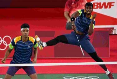 Chirag Satwik Pair Withdraws From Sudirman Cup  - Sakshi