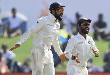 india won by first test in Sri Lanka