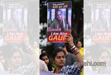 Gauri Lankesh murder Citizens rally for justice