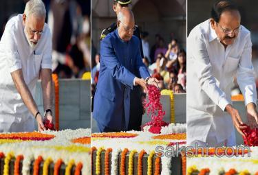 148th birth anniversary at Rajghat in New Delhi