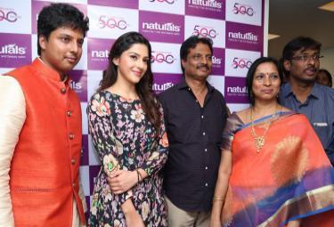 Tollywood Actress Mehreen Pirzada Inaugurates Naturals Beauty Salon at Sanath Nagar Hyderabad