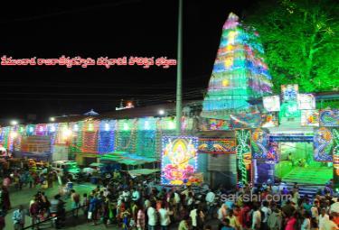 temples decorated for mahashivratri - Sakshi