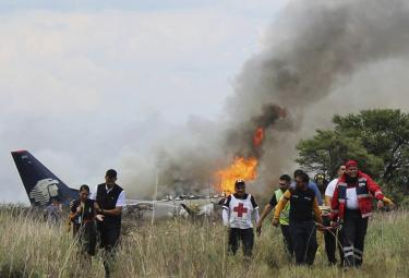 Aeromexico Plane Crashes in Mexico Photo Gallery - Sakshi