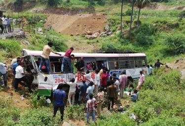 RTC Bus Accident In Kondagattu Ghat Road Photo Gallery - Sakshi