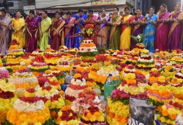Bathukamma Festival Celebrations In Kukatpally Photo Gallery - Sakshi