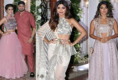 Shilpa Shetty's Diwali Bash: Bollywood Stars Shine at the Party Photo Gallery - Sakshi