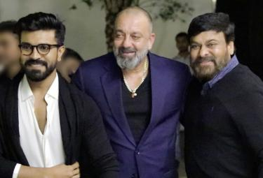 Sanjay Dutt and Chiranjeevi and son Ram Charan Photos - Sakshi