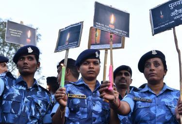 Pulwama terror attack CRPF jawans - Sakshi