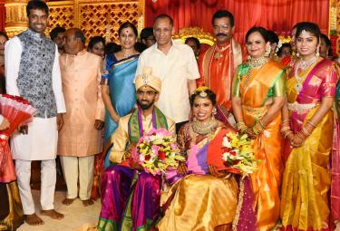 Badminton players sikki reddy and sumeeth reddy Marriage Photo Gallery - Sakshi
