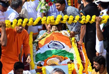 Manohar Parrikar during his funeral in Panaji Photo Gallery - Sakshi