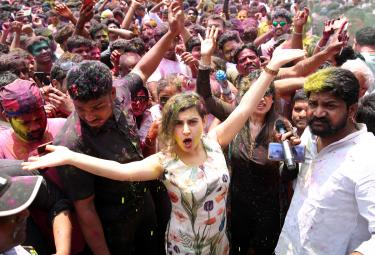 Holi Celebration in Hyderabad Photo Gallery - Sakshi