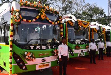 TSRTC Electric Buses Photo Gallery - Sakshi