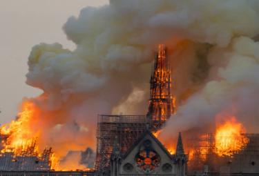 Notre Dame Cathedral Fire Photo Gallery - Sakshi
