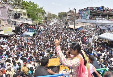 YS Sharmila public meeting at Veerankilaku Photo Gallery - Sakshi
