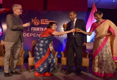 Governor Takes Part In US Independence Day Celebrations Photo Gallery - Sakshi
