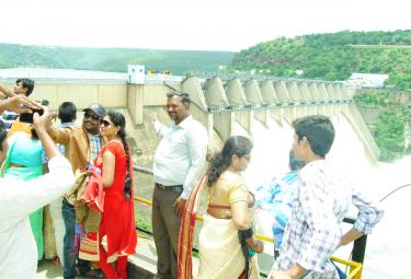 Srisailam Dam Gets Huge inflows Photo Gallery - Sakshi