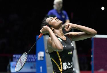 P V Sindhu Becomes First Indian To Clinch Badminton World Championships Gold - Sakshi