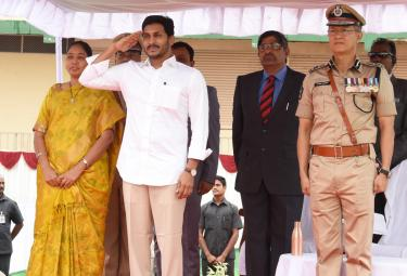 Ys Jagan Police Martyrs Commemoration Day At vijayawada - Sakshi