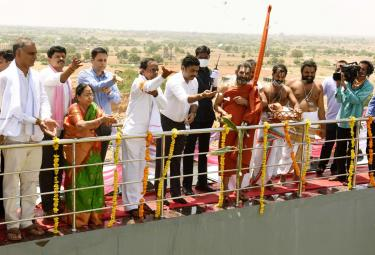 Telangana CM inaugurates Kondapochamma Sagar project Photo Gallery - Sakshi