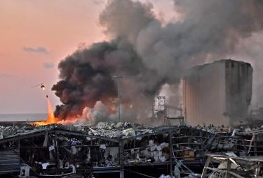 explosion at the port of Lebanons capital Beirut photo gallery - Sakshi