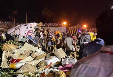 Air India plane crashes while landing Photo Gallery - Sakshi