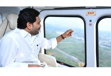 CM YS Jagan Aerial Survey in Flood Affected Areas Photo Gallery - Sakshi