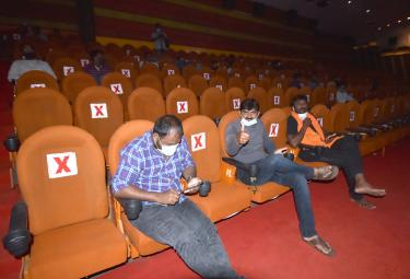 Theatres Reopen in Telangana - Sakshi