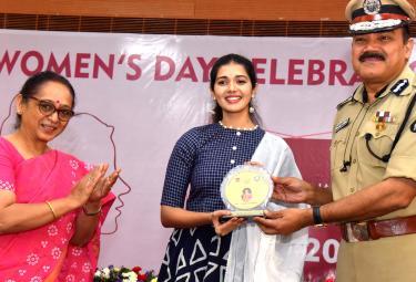 Womens Day Celebrations in Telangana Police - Sakshi