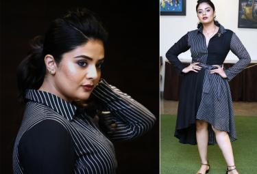 Sreemukhi at Pushpa First Meet - Sakshi