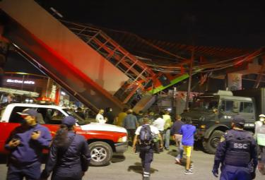 Metro Train Overpass Collapsed In Mexico City Photo Gallery - Sakshi