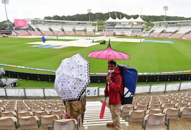 Rain delays toss, washes out first session at Ageas Bowl Photo Gallery - Sakshi